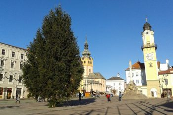 Vianocny stromcek, Banská Bystrica, 27.11.2013