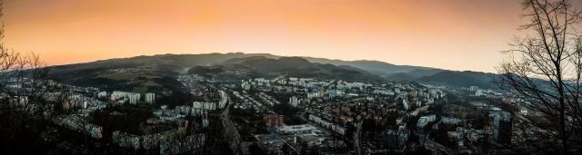 Banska Bystrica Foncorda Radvan zapad slnka pocasie