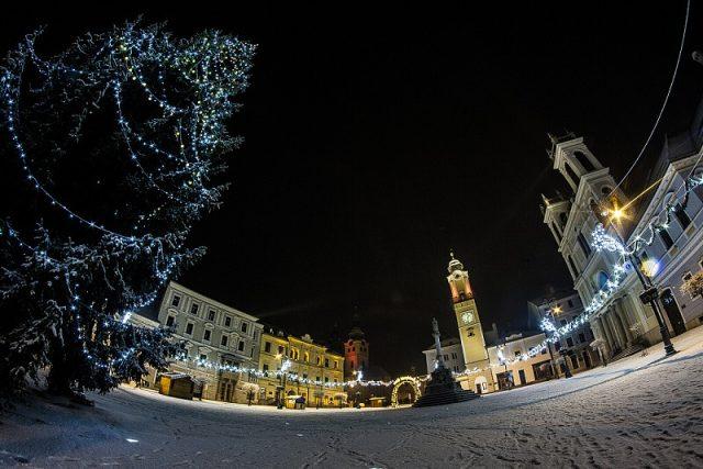 nocna Bystrica sneh zima