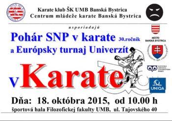 Karate - Pohár SNP - Banska Bystrica