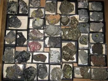 Vzorky mineralov zo zbierky Samuela Bothara
