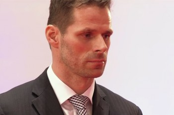 Michal Handzuš pri udeľovaní ocenení. Foto: reprofoto RTVS