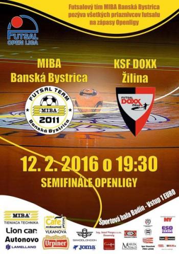 Futsal poster Semifinále