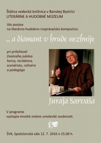 Jubilant Juraj Sarvaš