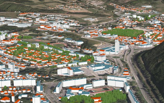 Banská Bystrica - 3D model mesta